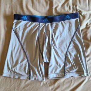 Men's Adidas Compression Shorts, Gray